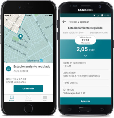 app, aparcar, elparking, zona azul, parkings