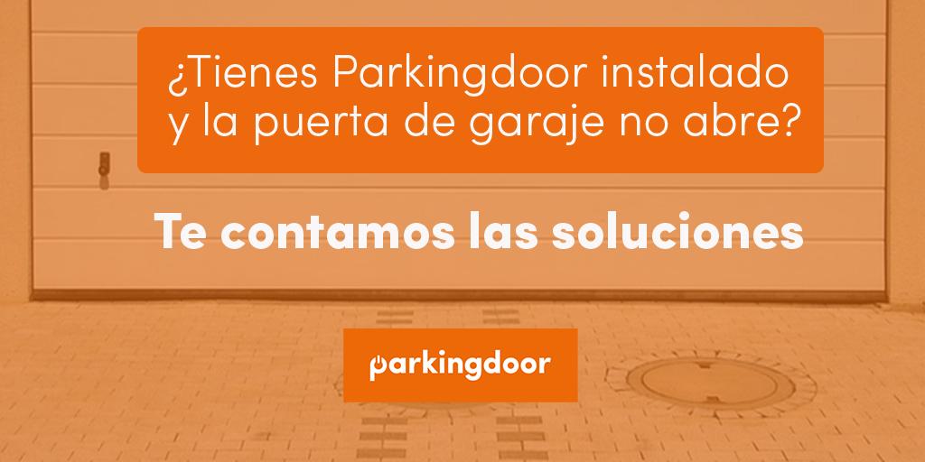 Parkingdoor instalado en la puerta de garaje
