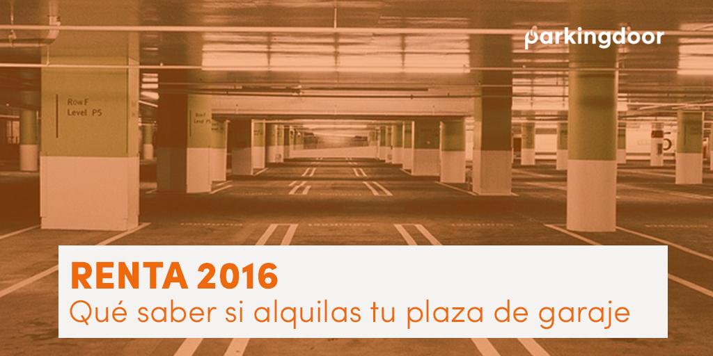 Alquiler plaza de garaje Renta 2016