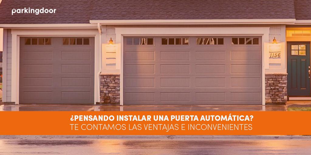 Ventajas e inconvenientes de instalar una puerta automática