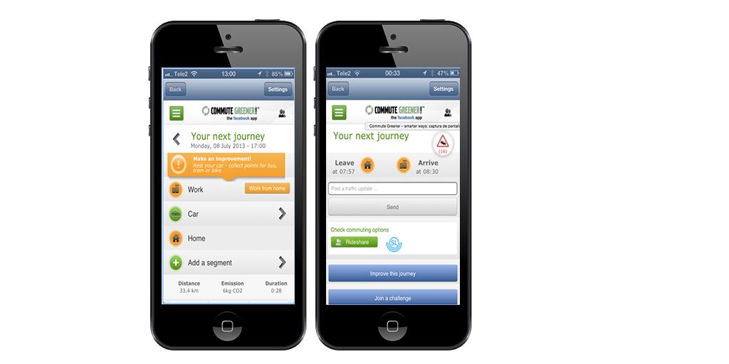 Reducir, huella de carbono, tecnología, apps, Commute greener