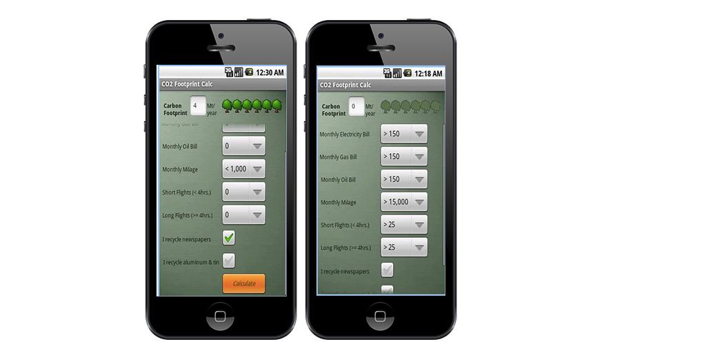 Reducir, huella de carbono, tecnología, apps, Green Footprint Calculator