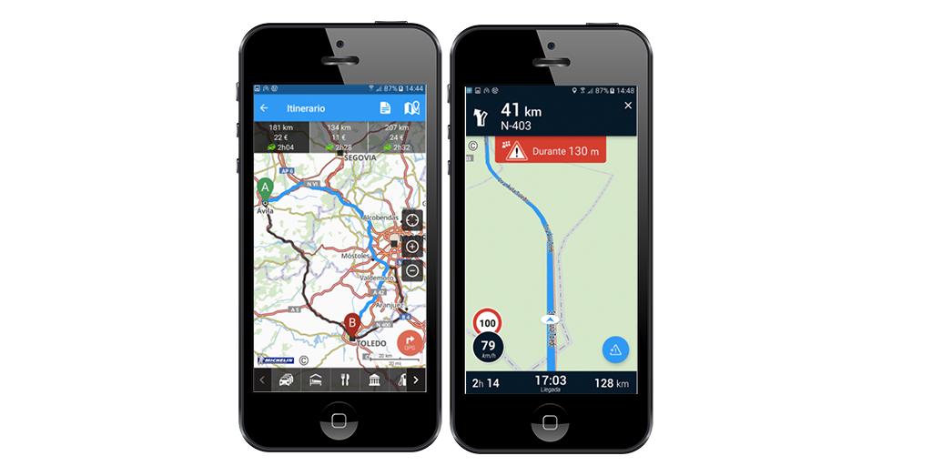 Via Michelin, apps, coches, tráfico
