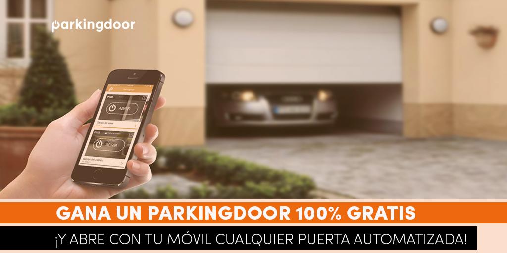Sorteo, móvil, garaje, Parkingdoor